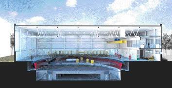 A cross section of the Flowave TT centre being built at Edinburgh University