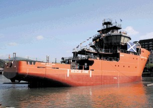 ADDITION TO FLEET: The Grampian Defiance, launched  at Balenciaga, Spain