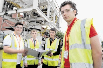NEPTUNE APPRENTICES:  From left, Michael Kelly, Aaron Findlay, Fraser Finlayson and Jon Simpson.