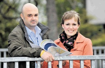 BIG PLANS: Andy Sloan and Marianne Townsley of SSE reveal details of the windfarms