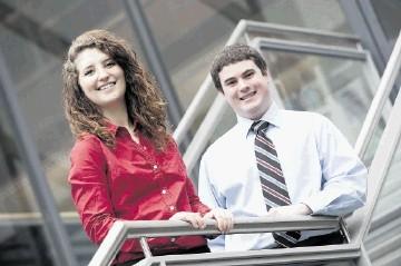 University of Tulsa students Cheyann Weinacht and Joey Moppert