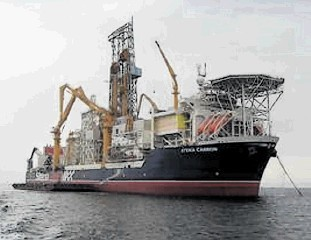 The Stella Carron drillship, active in West of Shetland