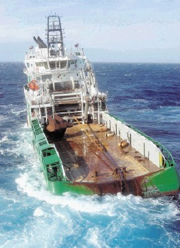 TRAGEDY: The supply vessel Bourbon Dolphin, was found to be unsuitable for the fateful anchor operation