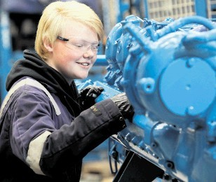 CAREER CHOICE: Anna Duncan . . . knew she might be the only girl in the workshop