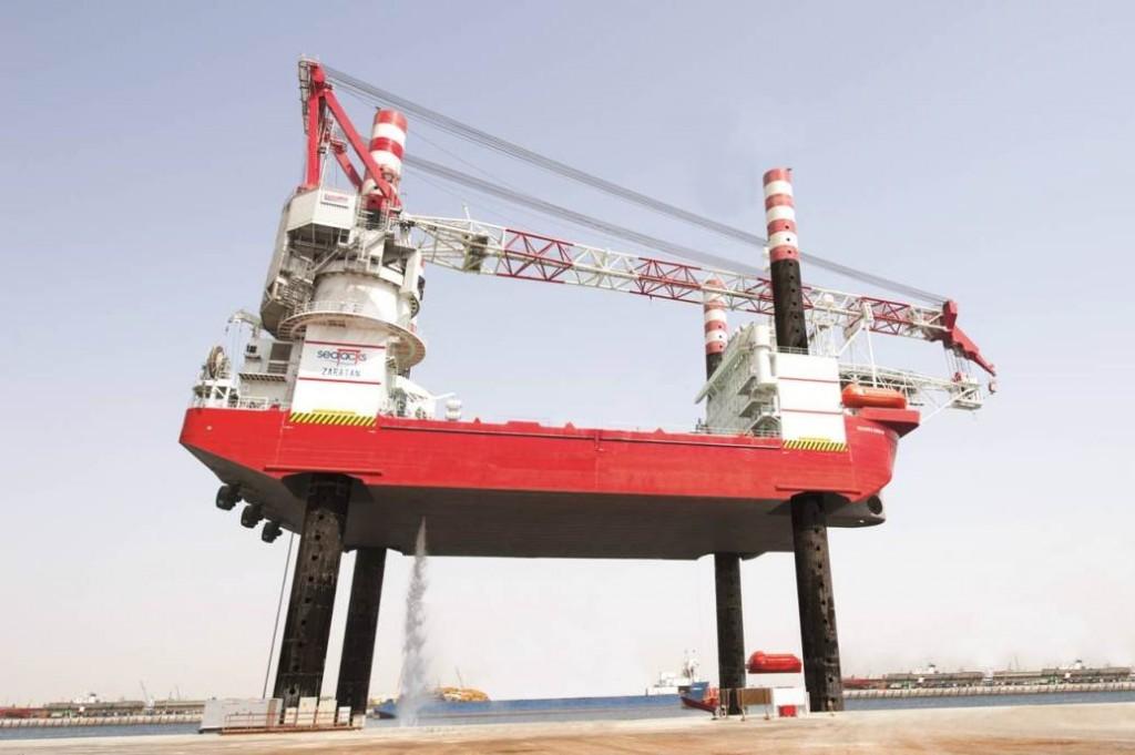 Seajacks' jackup Zaratan, recently delivered out of Lamprell's UAE yard
