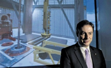 FORGING A NEW BOND: Prime Minister of Lower Saxony, David McAllister, on a visit to KCA Deutag in Aberdeen