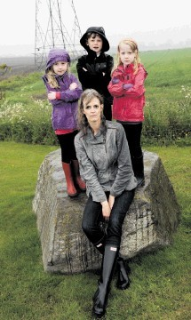 UP CLOSE: Aileen Foulkes with children Antonia, 6, Jonathan, 8, and Gabrielle, 6. Kenny Elrick
