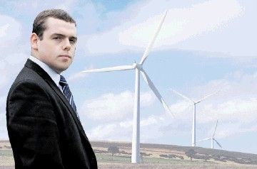 ENOUGH'S ENOUGH: Douglas Ross wants a halt to windfarm bid until the results of a public consultation. Gordon Lennox