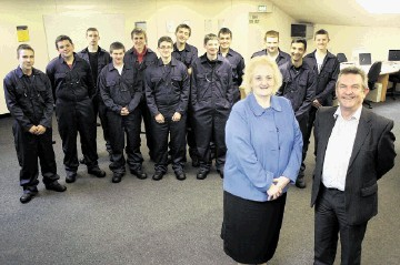 ITCA Managing Director, June Jones and ITCA Training Centre Manager, Davie Burnett with the new recruits