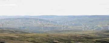ARTISTS' IMPRESSION:  The  windfarm, complete with 31 turbines, is planned for the edges of the Cairngorm  National Park