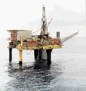 ON HOLD: The Dunlin Alpha platform, 120 miles north-east of Shetland
