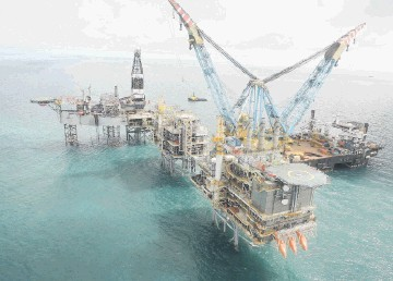 PROSPERING: The Buzzard field, where  Nexen's share of output rose to  average  84,000 barrels of oil per day