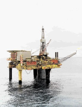 The Fairfield-owned Dunlin Alpha installation which serves the Osprey wells in the North Sea