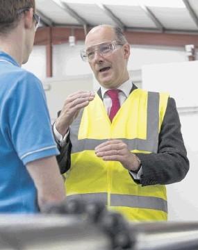 TARGETED INVESTMENT: John Swinney visits  Red Spider's Westhill workshop