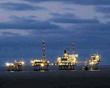 Perenco's 27Alpha platform, its main compression hub in the Southern North Sea Leman field