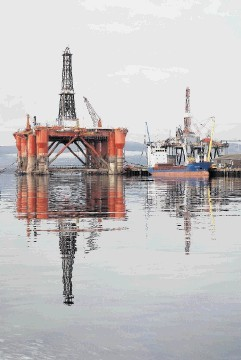 Drilling rig Ocean Guardian at rest