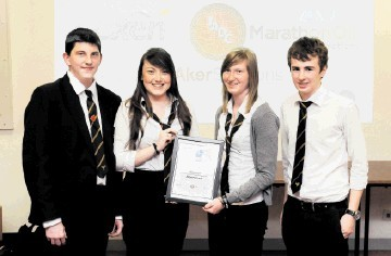 TOP TEAM: Petrochallenge winners Charlie Innes, Samantha Mitchell, Hannah Robertson and Ross Yule from Bucksburn Academy