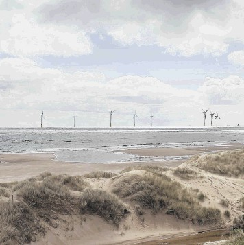 WINDS OF CHANGE: An artist's impression of the proposed Vattenfall windfarm