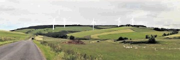 ACCEPTABLE: An artist's impression from the developers of how the finished windfarm development at Edintore will look