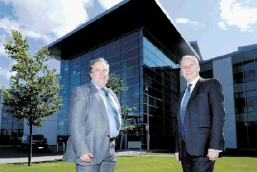 KEY SECTOR: Robert Armour, left, and Trevor Garlick at BP's Aberdeen HQ. Colin Rennie
