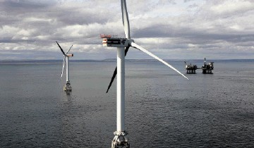 BLUEPRINT: The first phase of the development would be on the Smith Bank, where the Beatrice  demonstrator project is already harnessing the wind