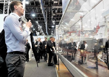 CROWD PULLER: Visitors check out the displays in the Offshore Northern Seas exhibition hall