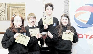 SUCCESS: Northfield Academy students Emily Watt, Marc Rayne, Luke Rodgers and Amy Smith