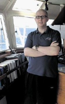 LIFE ON THE OCEAN WAVES: Matthew Parkhouse, 2nd Mate with Vroon Offshore Services