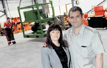 RECRUITING: Ian and Tracy Clark in  the firm's expanded premises at St Katherines. Kenny Elrick