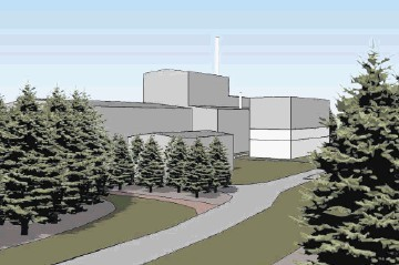 FOREST SCREENING: An artist's impression from the developers of what the proposed  plant would look like