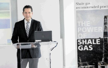 TAKING INITIATIVE: Remi Eriksen of DNV launching shale protocol
