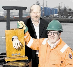 MAINTAINING FITNESS: Offshore riggers are often roped into taking part in health and safety classes