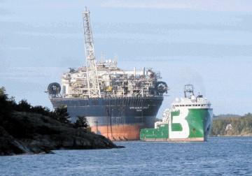 PRODUCTION: The Huntington development uses the Voyageur Spirit floating production vessel.