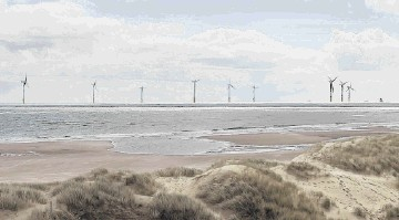 SEA VISION: A photo montage of how windfarm developers Vattenfall believe the turbines would look from the shore at Balmedie