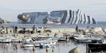 FLEXIBLE: The ASV Pioneer is helping with the salvage of the Costa Concordia, which ran aground off Italy