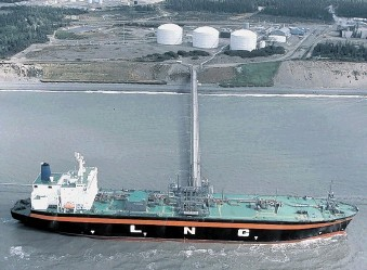 Left, the Kenai LNG terminal in Alaska has been an export facility for decades