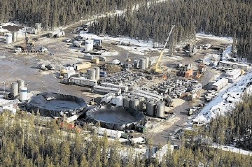 THE FUTURE?: Scenes like Apache's stunning shale gas discovery at Horn River, BC, in Canada, may become a common sight here