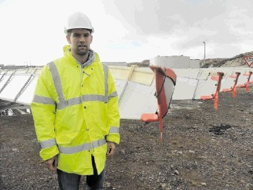 DELAYS: Scott Maciver of Maciver Consultancy Services  –  which is supervising the building of the Pentland Road windfarm