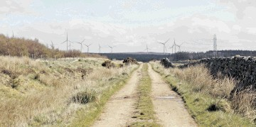 ROAD TO CHANGE: An artist's impression of the 24-turbine Limekiln windfarm by green energy company Infinergy