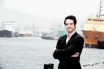 RISING STAR: Jamie Allen at the harbour, Aberdeen