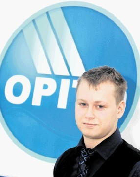 PROUD: Scott Stage . . .   named apprentice of the year by energy skills body Opito