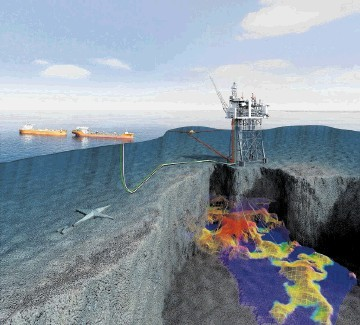 MAJOR DEVELOPMENT: Artist's impression from Statoil of the Mariner project  south-east of Shetland