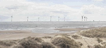GREEN SCHEME: A photo montage issued by Vattenfall of a proposed offshore windfarm near Aberdeen