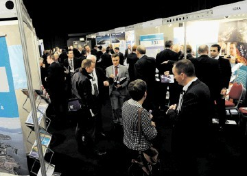 OPENING: The fifth  Offshore Wind and Supply Chain Conference and Exhibition gets under way in the Aberdeen Exhibition and Conference Centre. Kenny Elrick