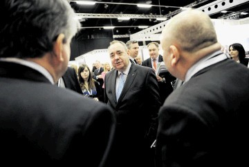 OPTIMISTIC: Alex Salmond at the  Offshore Wind and Supply Chain Conference. Kenny Elrick