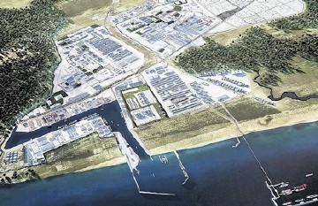 POTENTIAL: Acu Superport, which is expected to handle 350million tonnes a year of exports and imports