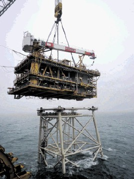 NORTH SEA PROGRESS: First gas is expected next month from the York field