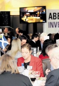 TRANSATLANTIC: More than 240 business professionals took part in the  event