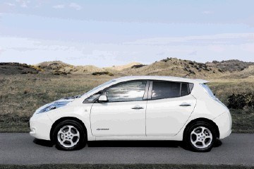Nissan Leaf, the first mass-produced electric car.