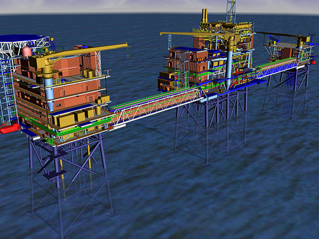 An artist's impression of GDF Suez's Cygnus development in the southern North Sea.